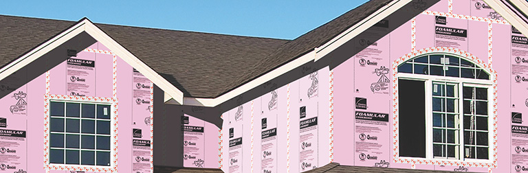 House being built with Codebord air barrier system being shown.