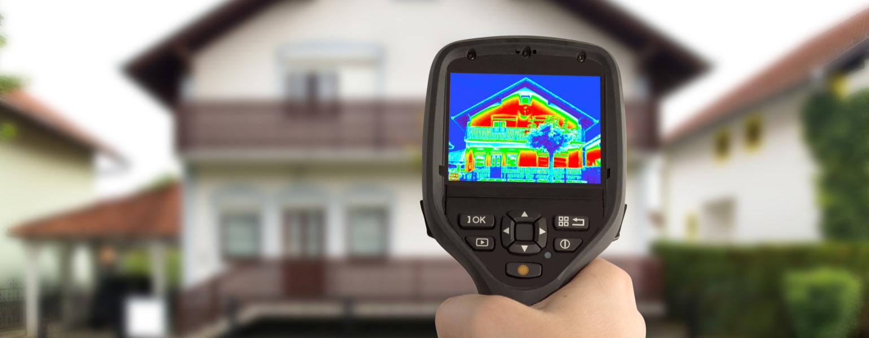 Heat gun showing heatmap of house