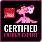 Owens Corning Certified Energy Expert badge
