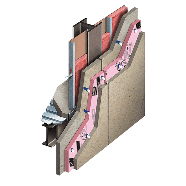 Precast Concrete Walls with XPS Insulation Core Layer and Thermomass