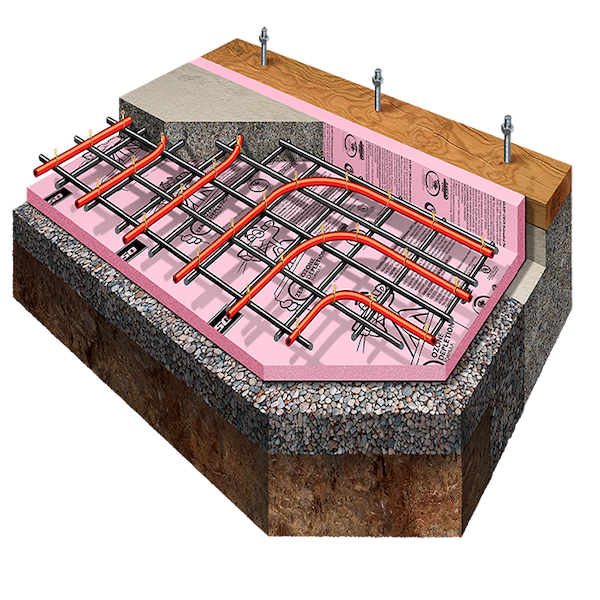 Under Slab Insulation With Radiant Heating Owens Corning Owens Corning Enclosure Solutions