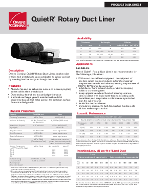 Quietr rotary duct liner owens corning insulation quietr rotary duct publicscrutiny Images