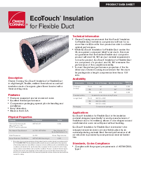 Ecotouch insulation for flexible duct owens corning insulation data sheets 3 ecotouch insulation for flexible duct publicscrutiny Images