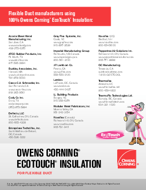 EcoTouch® Insulation for Flexible Duct - Owens Corning Insulation