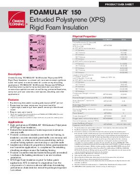 FOAMULAR® 150 - Owens Corning Insulation