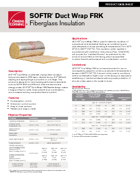 Softr duct wrap frk owens corning insulation publicscrutiny Gallery