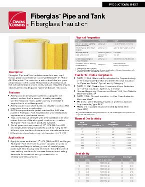Fiberglas™ Pipe & Tank Insulation - Owens Corning Insulation
