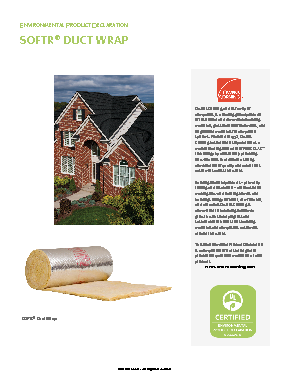 SOFTR® Duct Wrap FRK - Owens Corning Insulation