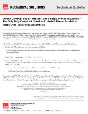 SSL II® with ASJ Max Fiberglas™ Pipe Insulation - Owens Corning