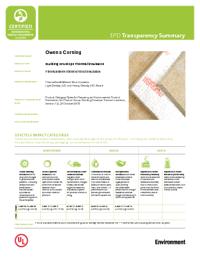 cover image of EPD Transparency Brief - Thermafiber Insulation