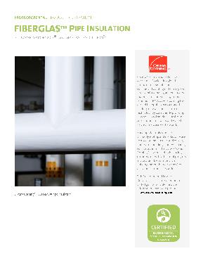 SSL II® with ASJ Max Fiberglas™ Pipe Insulation - Owens
