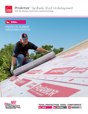 ProArmor® Synthetic Roof Underlayment - Owens Corning Roofing