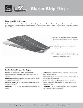 Starter Strip Shingle Owens Corning Roofing
