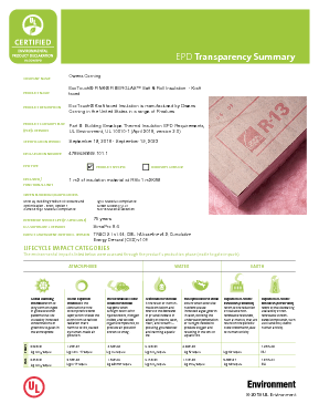 cover image of EPD Transparency Brief - EcoTouch Kraft-Faced Insulation