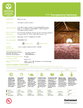 cover image of EPD Transparency Brief - Unbonded Loosefill