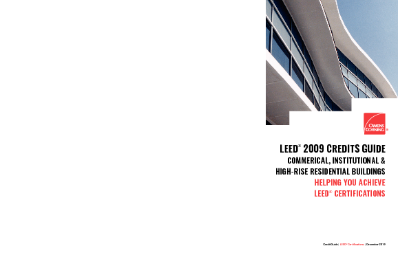 cover image of Owens Corning LEED 2009 Credit Guide (Commercial)