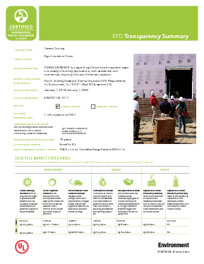 cover image of EPD Transparency Brief - FOAMULAR Insulation