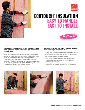 cover image of EcoTouch® Contractor Product Brochure