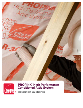 cover image of ProPink High Performance Conditioned Attic (HPCA) Installation Instructions