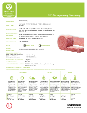 cover image of EPD Transparency Brief - EcoTouch Unfaced Insulation