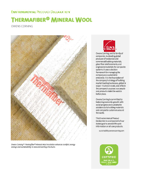 cover image of EPD - Thermafiber Mineral Wool