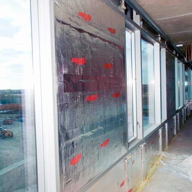 Thermafiber Aluminum Framed Curtain Wall Perimeter Fire Containment System Owens Corning Enclosure Solutions