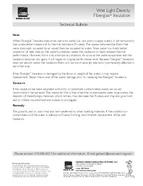 cover image of Wet Light Density Insulation Technical Bulletin