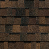 TruDefinition® Duration FLEX™ Brownwood brown shingles have a color that is achieved achieved through a mix of dark brown, light brown, and tan granules.
