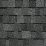 TruDefinition® Duration FLEX™ Estate Gray dark gray shingles have a color that is achieved achieved through a mix of light, medium, and dark gray granules.