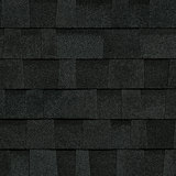 TruDefinition® Duration FLEX™ Onyx Black black shingles have a color that is achieved achieved through a mix of dark gray and black granules.