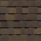 TruDefinition® Duration FLEX™ Teak dark brown shingles have a color that is achieved achieved through a mix of tan, medium and dark brown granules.