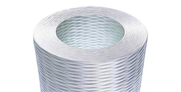Roll of white composite material