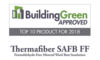 BuildingGreen Approved Top 10 Plaque 2018