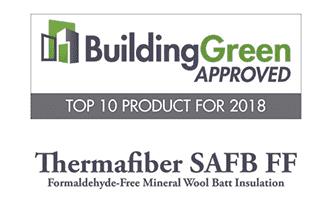 BuildingGreen Approved Top 10 Plaque 2018