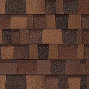 An eagle soars over the sedona canyon which inspired these reddish brown shingles.