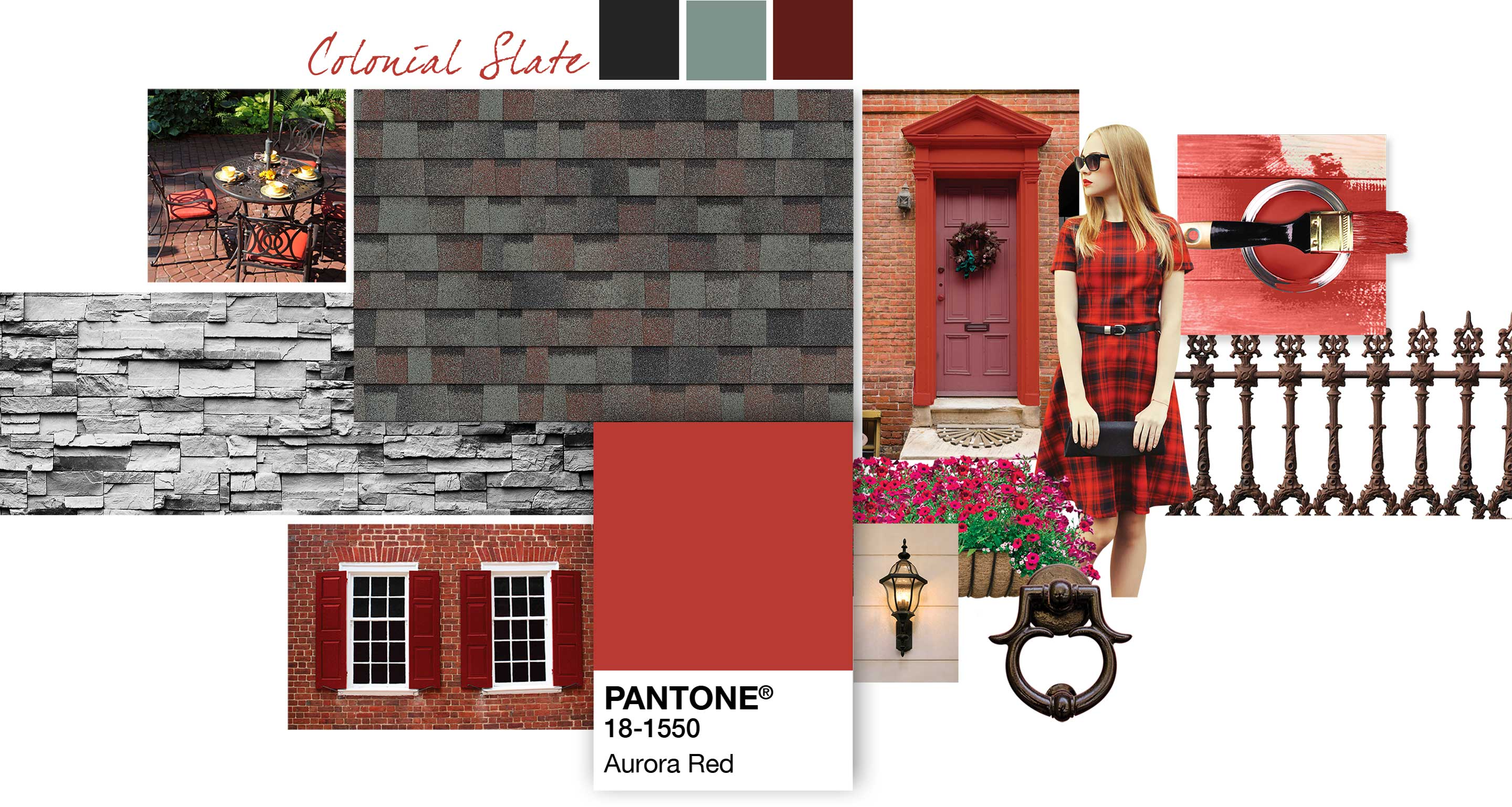 Pairing Type Colonial Slate Aurora Red