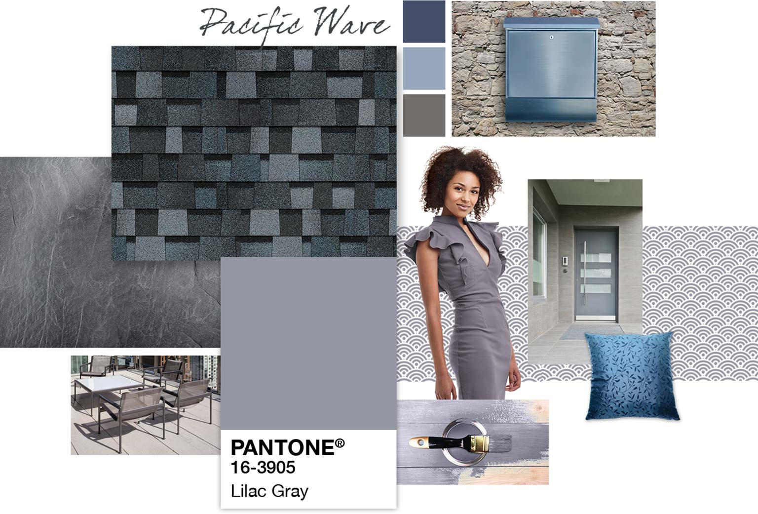 Lilac Gray Color Styleboard